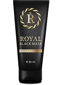royal black mask Máscara facial negra